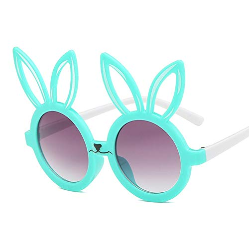 Wang-RX Niedlichen kaninchen form flexible kinder sonnenbrille uv400 eyewear shades infant polarisierte kind baby kinder sicherheit sonnenbrille 6 farben