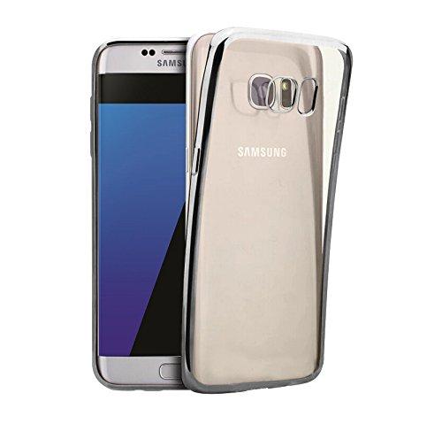 Minto iPhone 6 Plus/ 6s Plus Hülle, 0.8mm Ultradünne mit Überzug Farbig Rahmen Silber TPU Schutzhülle Weiche Silikon Transparent Case Cover für iPhone 6 Plus / 6S Plus Silber -s7