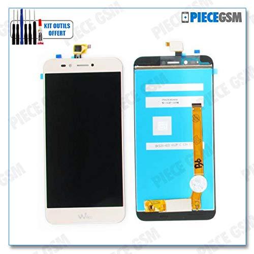 ECRAN LCD + VITRE Tactile pour WIKO UPULSE Lite Or + Outils + Colle