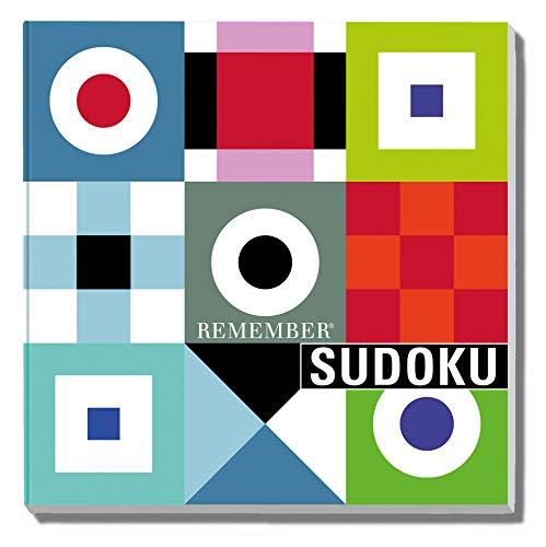 REMEMBER Sudoku - das beliebte Denkspiel als Brettspiel mit Zahlen oder Farben in Klappbox, 9x9
