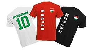 11 x Kinder T-Shirt Trikot Look – MINI EM 2016 – Ungarn