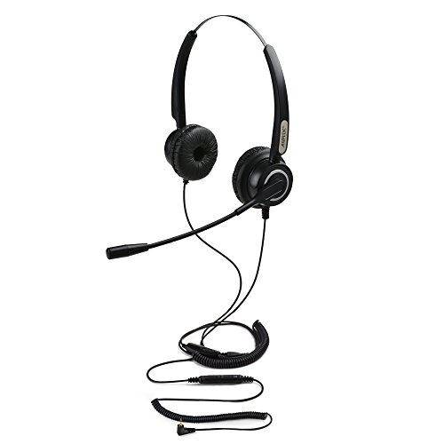 AGPtEK Hands-free 2.5mm Binaural Telephone Headset,