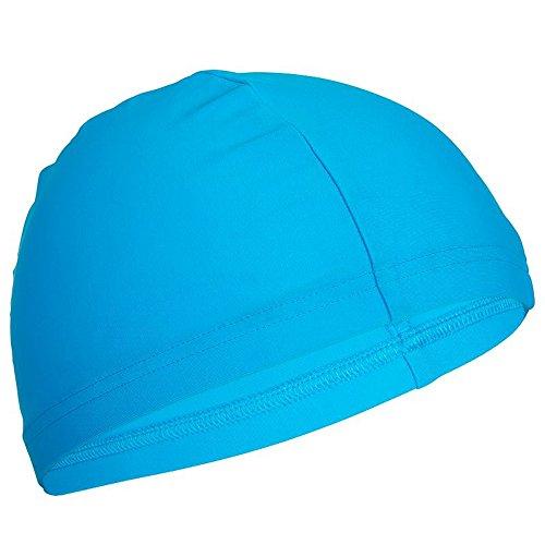 NABAIJI 8277367 Erwachsene Unisex Stoff-Badekappe, Swiming Caps, Schwimmen Kappen blau