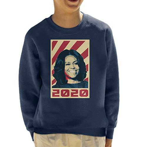Cloud City 7 Michelle Obama President 2020 Kid's Sweatshirt Barack Obama Sweatshirt