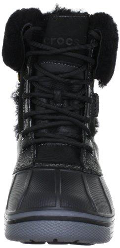 Crocs - Allcast Luxe Duck Bo, Stivaletti Donna Nero (Black/Charcoal)