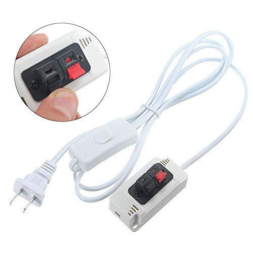 Global US-Stecker 2M Netzteil-Adapter mit Schalter für Test-LED-Streifen Licht Lampe AC100-240V