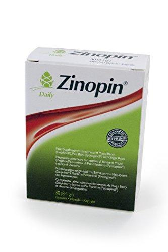 Zinopin Daily 30 cps.- integratore alimentare con estratto di bacche di Maqui (Delphinol), corteccia di Pino marittimo (Picnogenol), radice di zenzero