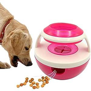Distributeur de nourriture pour chien Boule de nourriture for chien Tumbler, (TM) Boule de traitement IQ for animaux de compagnie Interactif Jouets for chiens Distributeur d'aliments Traiter Une bouch