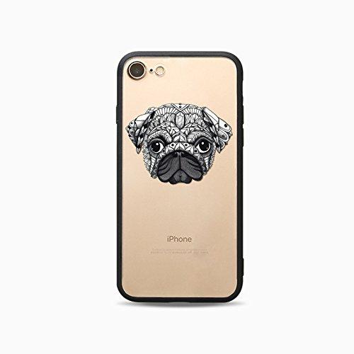 Coque iPhone 6 Plus 6s Plus Housse étui-Case Transparent Liquid Crystal Les animaux en TPU Silicone Clair,Protection Ultra Mince Premium,Coque Prime pour iPhone 6 Plus 6s Plus-Le loup-style 2 14