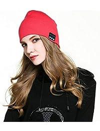 Bluetooth berretto invernale unisex berretto di maglia lavabile musicale con  microfono e altoparlanti stereo cuffie vivavoce 2e1ae777b774