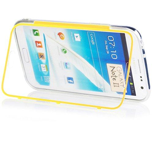 iCues |Samsung Galaxy Note 2 - N7100 Funda | claro Touch TPU Case | amarillo | Carcasa Bolsa Cover Bumper billig
