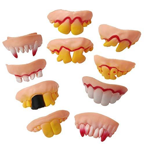 Erwachsene Zahnbürste Kostüm Für - Finebuying 10 Stücke Halloween Hässliche Gefälschte Zähne Kostüm Party Lustige Gag Geschenk (Mehrfarbig)