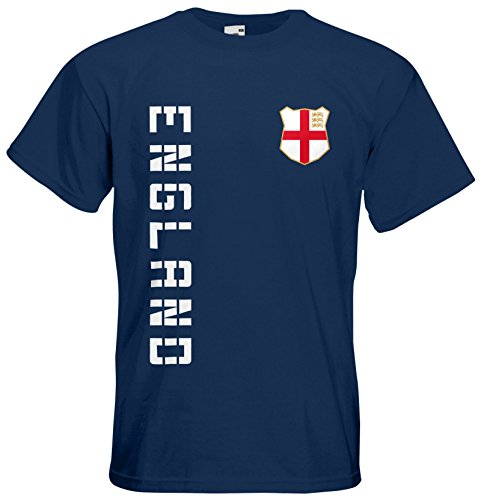 England T-Shirt Trikot Name Nummer Navyblau