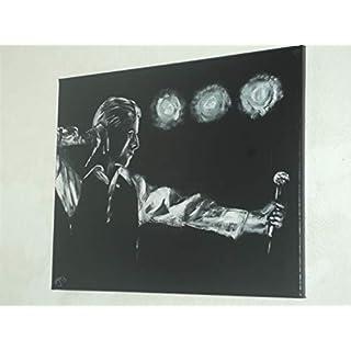 ARTRAX David Bowie, handbemalt montiert und gerahmt (UK) 20x 16Ins