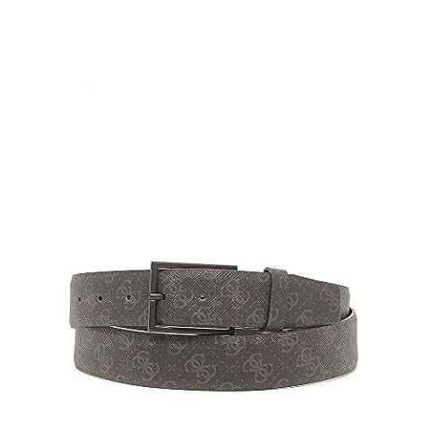 Guess men's adjustable length genuine leather belt black UK size 48 BM2043LEA35
