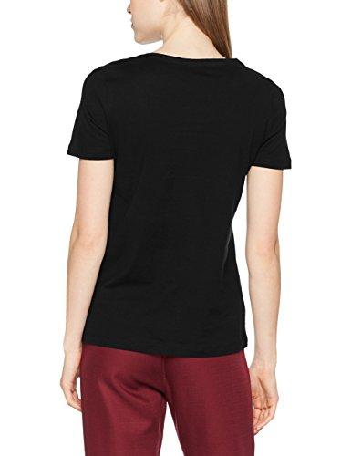 Lacoste Damen T-Shirt Noir (Noir)