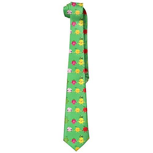 Funny Cute Watermelon Pineapple Straw Fruit Party Mens Fashion Skinny Necktie Ties Novelty Necktie Silk