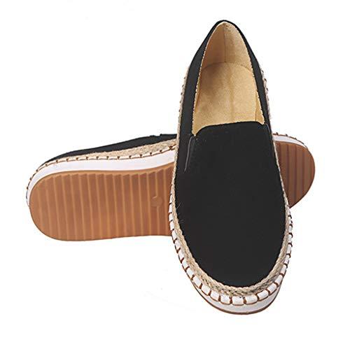 Zilosconcy Damenmode lässig Leopard Slip On flach mit Plattform Loafers Tuch Schuhe Fashion Espadrilles Leicht Bootsschuhe Ballerinas Schlüpfen Arbeitsschuhe Flache Freizeitschuh Trekking -