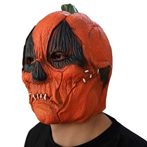 Kürbis Maske Haube Horror Phantom Kürbis Maske Film Funny Spukhaus Prom Perücke ()