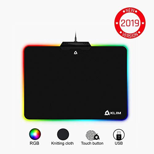 KLIMTM Mauspad RGB Chroma - Gewebe mit hoher Genauigkeit - Lichteffekte - Verschiedene Modi - Gaming Gamer Videospiele [ Neue 2019 Version ]