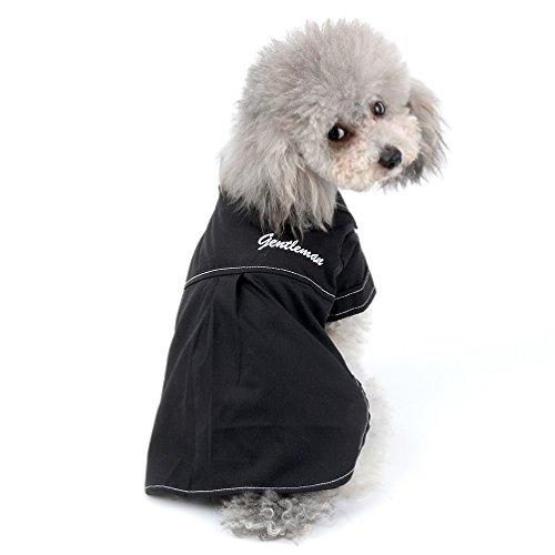 selmai New 2018Pet Durchgeknöpftes Hemd für kleine Dog Boy Herren Casual Woven Shirt Puppy Kleidung (nur für kleine Haustiere)