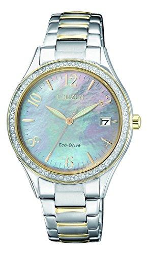 Citizen Damen Analog Quarz Uhr mit Edelstahl Armband EO1184-81D (Damen Silber Citizen Uhr)