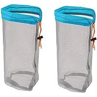 Sharplace 2 Stück Packung Ultra-Light Mesh Stuff Sack Aufbewahrungsbeutel Für Tavel Camping Mesh Bag Sport Netzbeutel