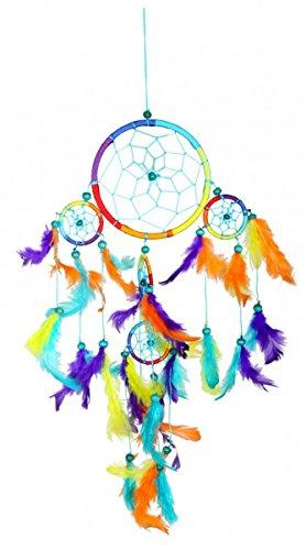 Atrapasueños arco iris (Dreamcatcher) diámetro: 12 cm