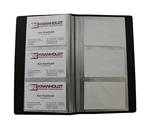 EXXO by HFP 23268 Visitenkartenbuch mit eingeschweißten Hüllen für 120 Visitenkartenarten PP-Vollkunststoff, schwarz