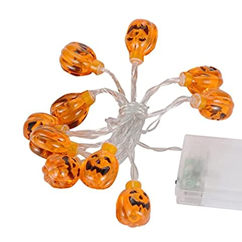 String Light, KEERADS 10LED Pumpkin String Lights For Indoor Outdoor Halloween Party Decor Halloween String Light Decoration