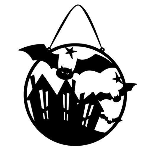 Fledermaus Themen Kostüm - Halloween Hängen Dekor Spukhaus Fledermaus Hängen Zeichen Dekor für Haus Bar Hausgarten Party Innen Urlaub