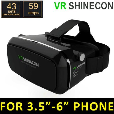 2016 Neue Version 3D-VR-Virtual-Reality-Brille Headset passend für Google iPhone Samsung Note LG Huawei HTC Moto 4,5-6,0 Zoll-Bildschirm Smartphone