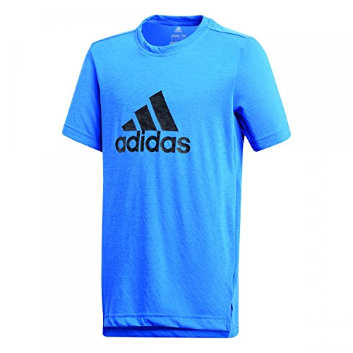 Adidas Yb Prime Log Te–Hemd, Kind, blau (azalre/Carbon/Schwarz),128