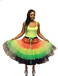 Crazy Chick Pride Rainbow TuTu Skirt (Approximately 26 Inches Long)