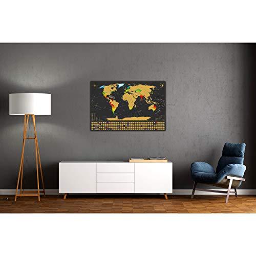 Rubbel Landkarte Poster XXL zum Scratch it Weltkarte zum Rubbeln