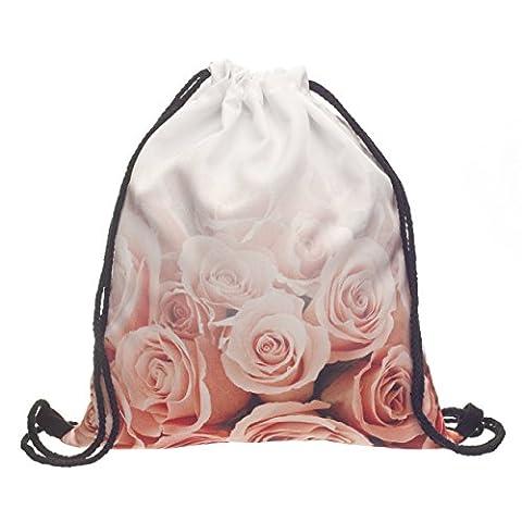 Beutel Roses Vintage Roses Powder Rosen Blumen Blüten Fullprint Gymbag