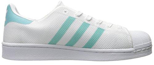 Adidas Superstar White Black Womens TrainersC77153 White/Easy Mint/White