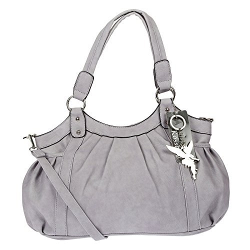 Kossberg Damen Henkeltasche Handtasche Schultertasche Bag Modell Alien (Grau)