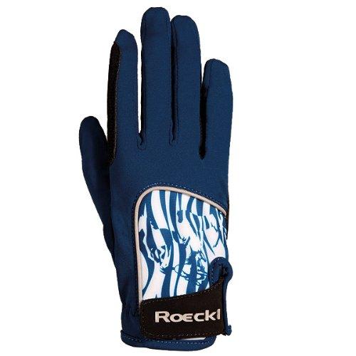 Roeckl Sports Junior Handschuh Kuka, Kinder Reithandschuh, Marine, 5