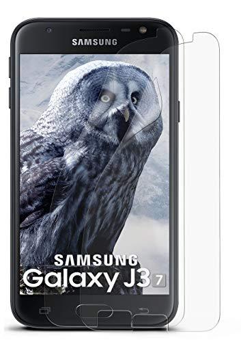 2X Samsung Galaxy J3 (2017) | Schutzfolie Matt Bildschirm Schutz [Anti-Reflex] Screen Protector Fingerprint Handy-Folie Matte Bildschirmschutz-Folie für Samsung Galaxy J3 2017 Bildschirmfolie