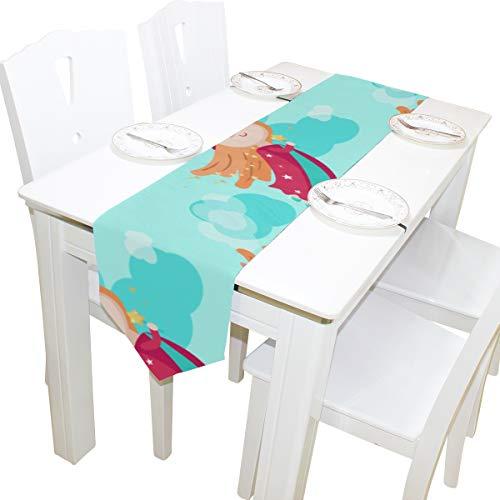 dchen Fantasie Kommode Schal Tuch Abdeckung Tischläufer Tischdecke Tischset Küche Esszimmer Wohnzimmer Home Hochzeitsbankett Decor Indoor 13x90 Zoll ()
