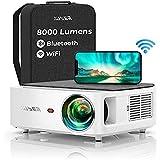 YABER Projektor do kina domowego, WiFi Bluetooth 5G, 8000 lumenów, Full HD 1080p, z 4-punktową korekcją trapezu, wsparcie 4K