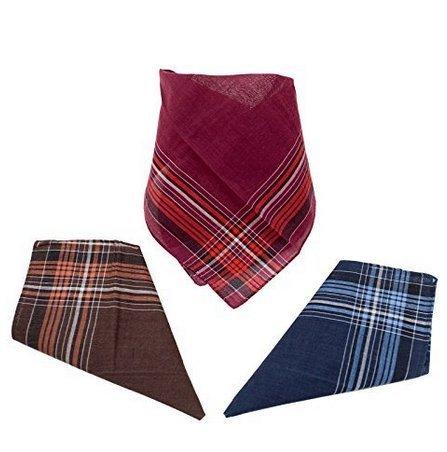 Preisvergleich Produktbild 12 Herren Stoff-Taschentücher aus 100% Baumwolle in unterschiedlichen whlbaren Designs,  35 cm x 35 cm