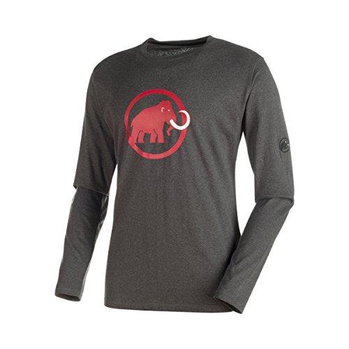 Mammut Herren Longsleeve Logo Shirts, Graphite Melange, XXL (Logo-shirt Mammut)