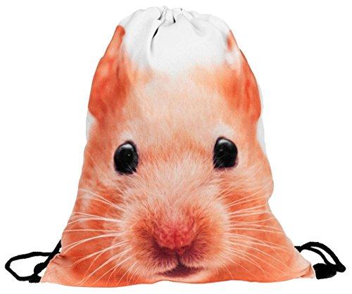 Kukubird Vari Stampa Semplice Back Pack Con Il Sacchetto Di Polvere Di Kukubird Hamster Descuento 2018 YQ2tBDQQ