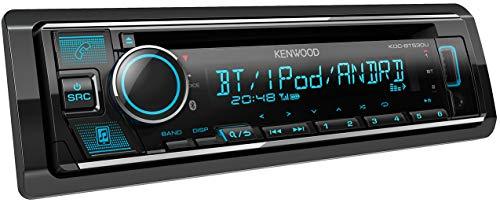 Kenwood KDC-BT530U CD-Autoradio mit Bluetooth Freisprecheinrichtung (Soundprozessor, USB, Spotify Control, 4x50 Watt, Farben einstellbar) Schwarz (Autoradio Zum Iphone)