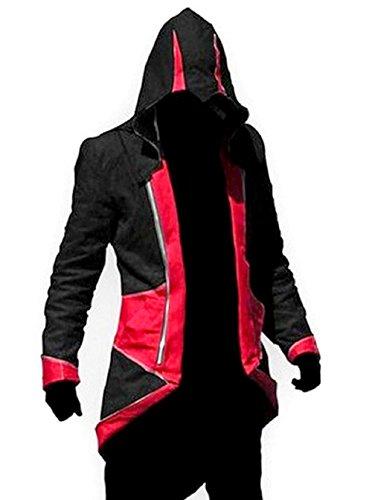 Giacche Cosplay di Assassin's Creed - Credo degli Assassini - Rosso e Nero (S = XS ITALIANA)
