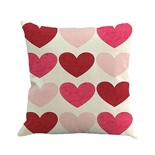 Sammoson printed happy san valentino cuscino per il tiro cuscino quadrato love sweet 83d