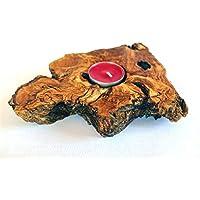 Handgefertigter Kerzenhalter aus Olivenholz, einzigartiges Geschenk für Valentinstag, Hochzeit, Erwärmung, Geburtstag, Jubiläum, für ihn, für Sie, exklusiv KOSTENLOSE Sendungsverfolgung