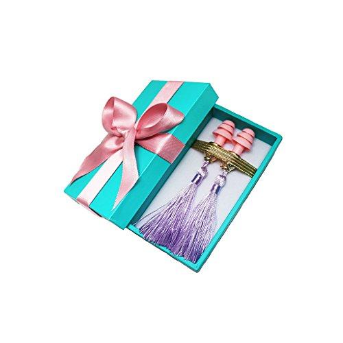 Geschenk-Boxed Quaste Ohrstöpsel Frühstück bei Tiffany's Silk Handmade (Lavender Dream)